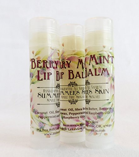 Berry Mint Lip Balm by Summer's Skin, Set of 3 by Summer's Skin