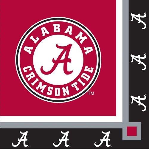 Alabama Crimson Beverage Napkins 20 Count