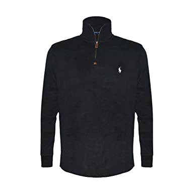 2df4f88fe2b Image Unavailable. Image not available for. Color  Polo Ralph Lauren Mens  Half Zip French Rib Cotton Sweater ...