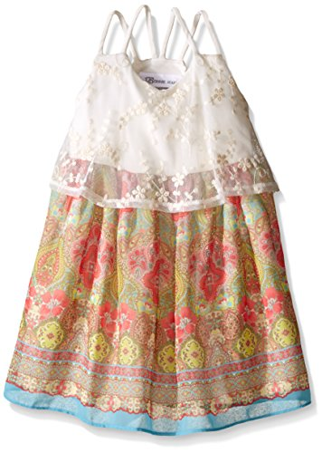 Bonnie Jean Toddler Girls' Novelty Popover Dress, Ivory, 3T