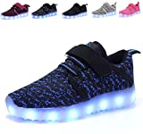 AoSiFu Kids LED Light Up Shoes Breathable Kids Girls Boys Breathable Flashing Sneakers as Gift Blue31