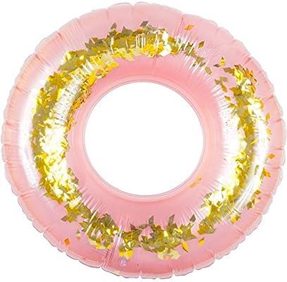 Wahou 38 - 1q-019 flotador hinchable redonda XL confeti dorada y ...