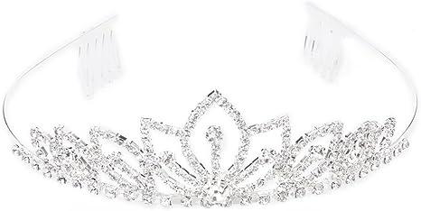 Corona Diadema Sposa Damigella D/'onore Prom Strass Cristallo Tiara Fascia