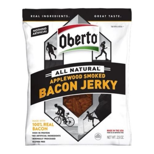 Oberto All Natural Applewood Smoked Bacon Jerky, 2.5 Ounce - 12 per case.