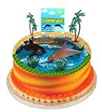 Beach Ocean Water SeaSide Animals Cake Decoration Cake Toppers (Dolphins & Whale)