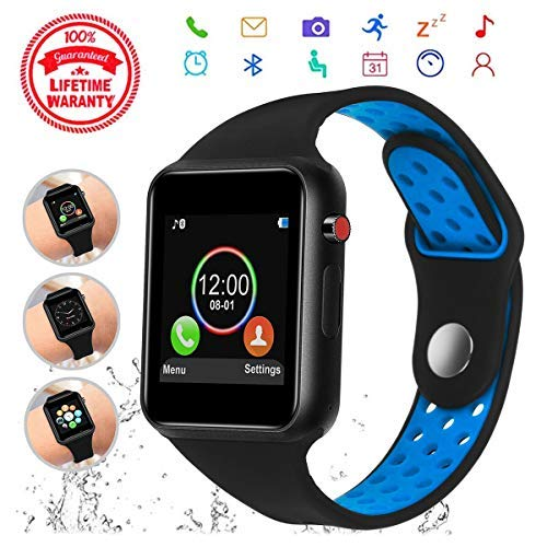 Smart Watch, HongTu Touchscreen with Camera,Unlocked Watch Phone with Sim Card Slot,Sleep Monitor Pedometer,Smartwatch Phone for Android Samsung S9 S8 ...