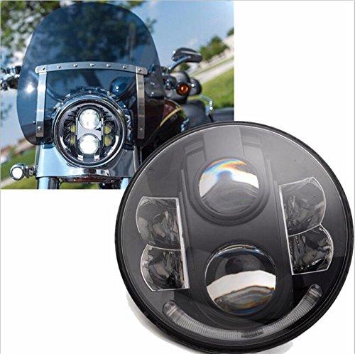 4 opinioni per UNI Nero Faro Anteriore 7inch LED mezzo halo headlight 80W Con DRL & Hi/Lo Beam