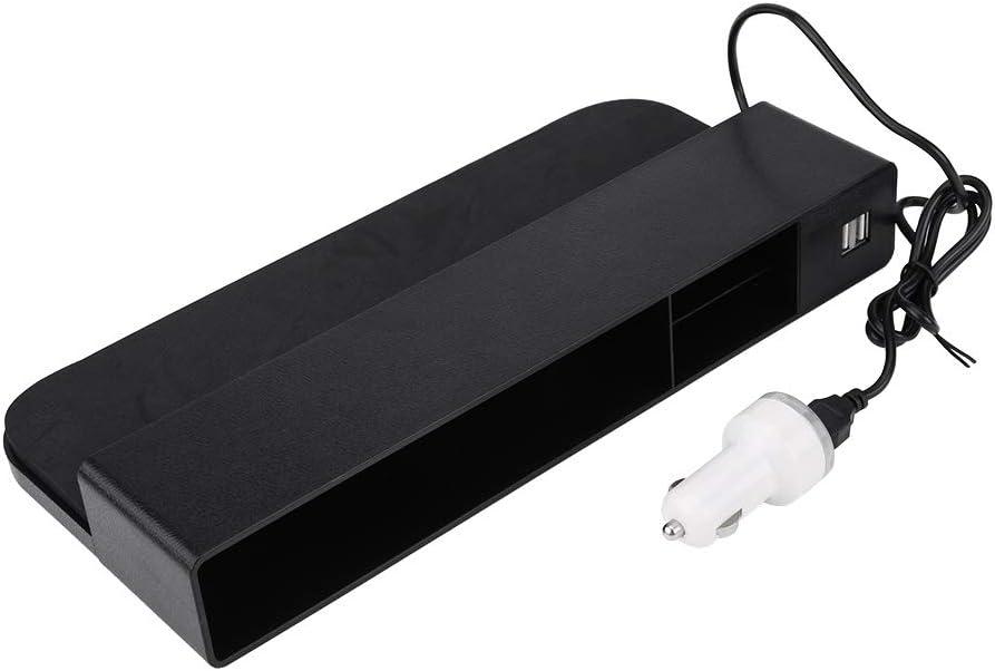 Marrone Multi-Funzionale Car Seat Gap Storage Box Gap Slit Pocket USB Wireless Charge Phone Holder Qiilu Car Seat Gap Storage Box