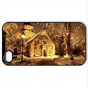 Magic night - Case Cover for iPhone 4 and 4s (Religious Series, Watercolor style, Black)
