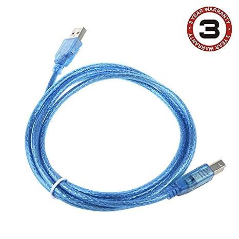 Amazon.com: SLLEA 6ft USB 2.0 Printer Cable Cord for HP ...