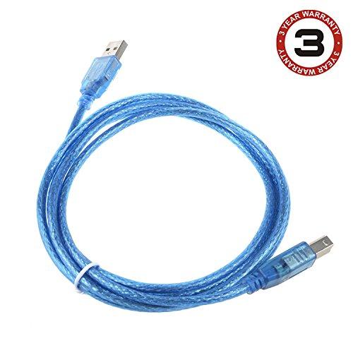 SLLEA 6ft Printer Cable Cord for HP Laserjet Pro P1102W P 1102W P1102 W 1102