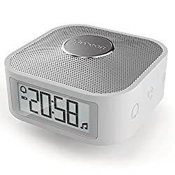 Oregon Scientific Rechargeable Portable Travel Companion Clock with Bluetooth Music Microphone Hands-free Calling Preset Sleep Sounds Alarm