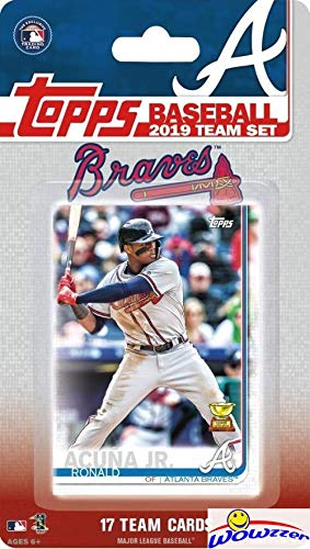 All Star Sports Collectibles - Atlanta Braves 2019 Topps Baseball EXCLUSIVE Special Limited Edition 17 Card Complete Team Set with Ronald Acuna Jr, Ozzie Albies & Many More Stars & Rookies! Shipped in Bubble Mailer! WOWZZER!