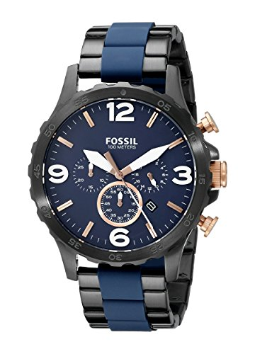 Fossil Men's JR1494 Nate Analog Display Analog Quartz Black Watch (Fossil 50mm Mens Watch)
