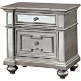 Furniture of America CM7673N Salamanca Silver Nightstand
