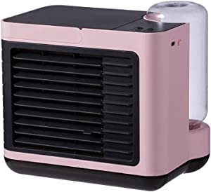Uotmiki Mini Space Cooler-Portable Air Cooling, Personal Air Conditioner, Portable Mini Home Air Conditioner Removable Cooler Fan,Personal Cooler Fan Humidifier for Home Office Desktop Bedroom (Pink)