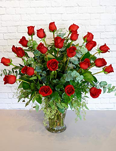 Dozen Premium Red Roses Bouquet - Two Dozen Premium Red Roses - Fresh Flowers Hand Delivered