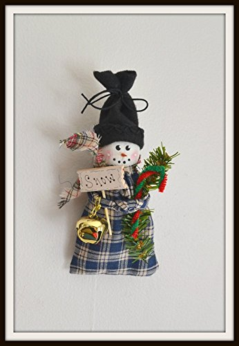 Snowman Hanging Ornaments handmade (Homespun Snowman)