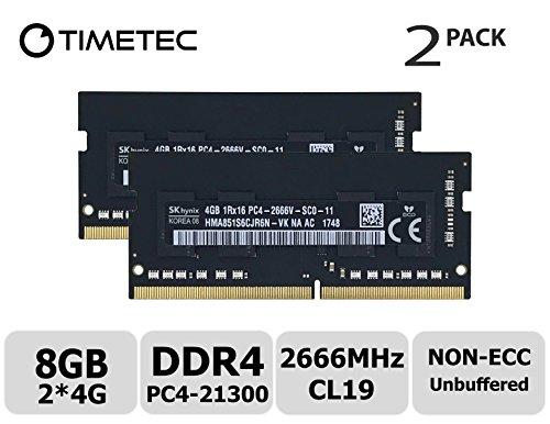 Timetec Hynix 8GB KIT (2x4GB) DDR4 2666MHz PC4-21300 Unbuffered Non-ECC 1.2V CL19 1Rx16 260 Pin SODIMM Laptop Notebook Computer Memory RAM Module Upgrade (8GB KIT - Notebook Patriot Memory