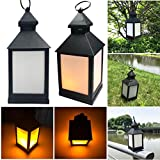 Yeefant Waterproof Outdoor Hanging LED Flickering Lamp Landscape Lamp Lighting Dark Sensing for Outdoor Patio Deck Yard Garden Driveway Wall Decor,Not Include Battery