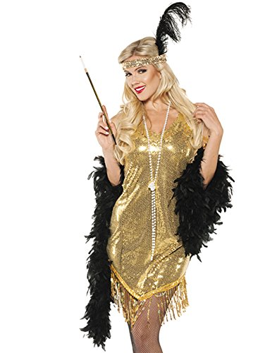Swingin' Flapper Costumes (Swingin Adult Costume Gold - Large)