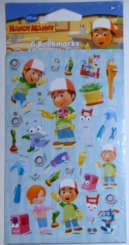 Handy Manny 6 Bookmarks and 100 Sticker Set