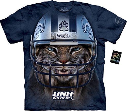 The Mountain Boys' Big Boys' University of New Hampshire Wildcat Warrior Masco Youth T-Shirt, Blue,