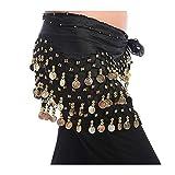 GOOTRADES Chiffon Dangling Gold Coins Belly Dance Hip Skirt Scarf Wrap Belt