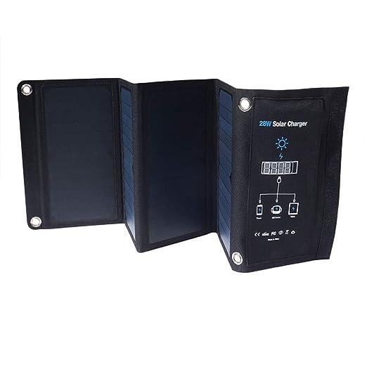 ZDNP 28W 3USB Puerto Cargador Solar, Cargador de Carga ...