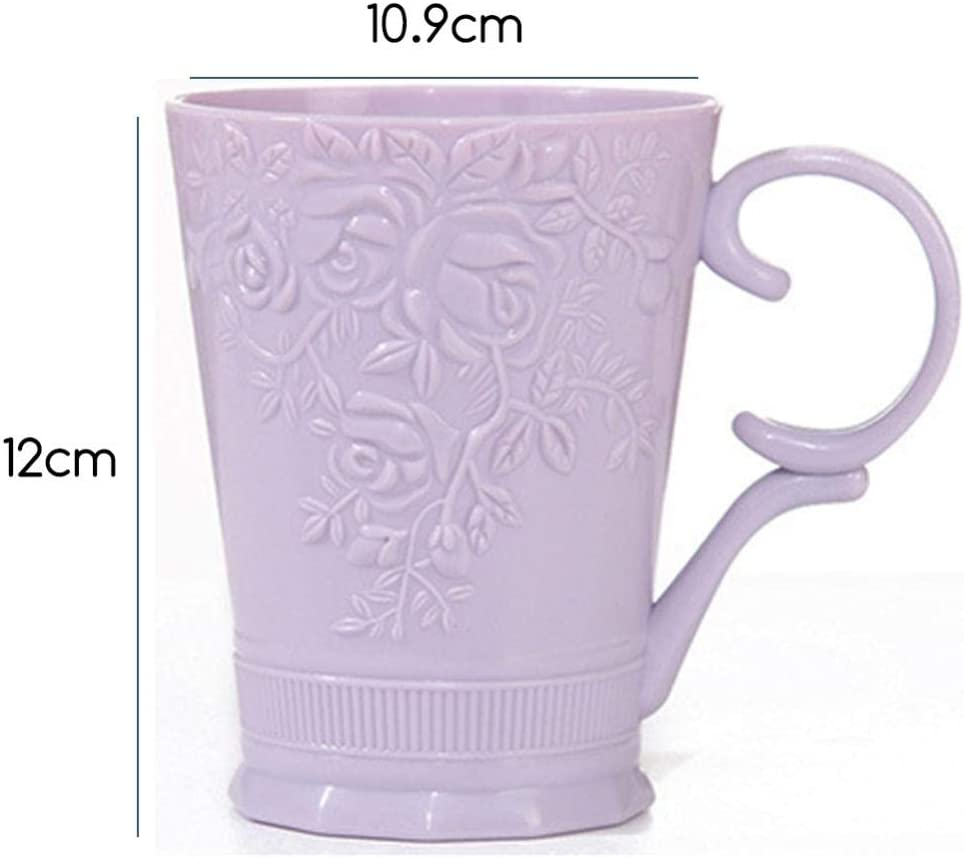 LUEST Flower Pattern Bath Cup Bathroom Mouth Washing Tumbler Cup Portable Washing Supplies Blue