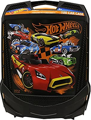 Hot Wheels 100-Car, Rolling Storage Case with Retractable Handle | Educational Computers