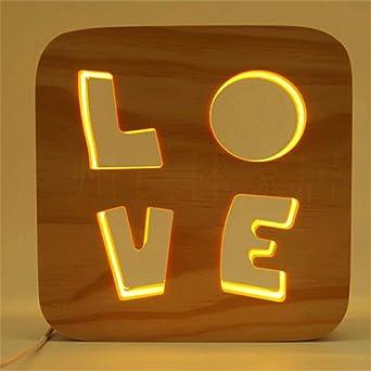 Lámpara de grabado del producto Lámpara de mesa decorativa LED ...