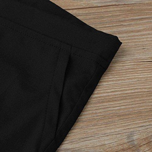 Donna Larghi Sciolto Elegante Comodo Palazzo Pantalone Pigiama Pantaloni Spiaggia Coulisse Con Libero Pantaloni Larghi Nero Damigella Tempo Pantalone Solidi Estivi Colori Pantaloni Elastico Del Pants rHq76rT