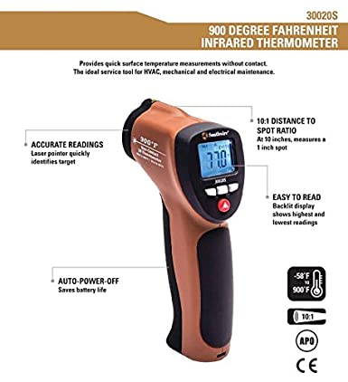 Southwire Tools Equipment 30010S 700 F Non-Contact Digital Infrared Thermometer