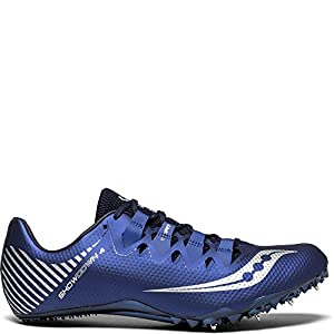 Saucony Men's Showdown 4 Track and Field Shoe, Navy/Silver, 10 Medium US