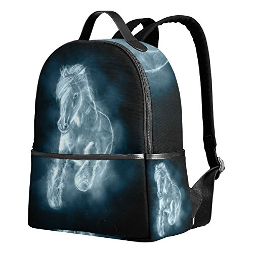456113b995d8 JSTEL White Horse Running Clouds School Backpack 4th 5th 6th Grade ...