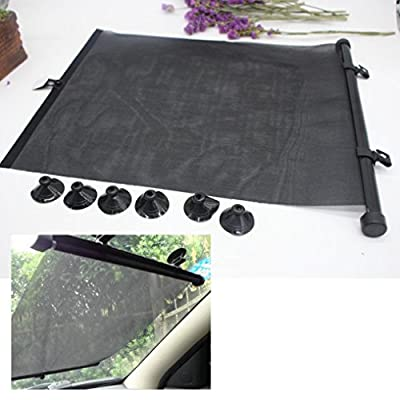 Transer Car Window Roller Blinds Retractable Sun Block Shades Interior Protection With 6PCS Suction Cup for Baby Children