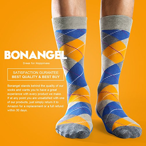 Bonangel Men's Fun Dress Socks-Colorful Funny Novelty Crew Socks Pack,Art Socks by Bonangel (Image #5)'