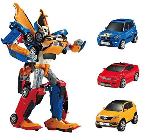 Tobot Tritan 3 Car Integration Robot Transforming Robot Car to Robot Animation Character Youngtoys