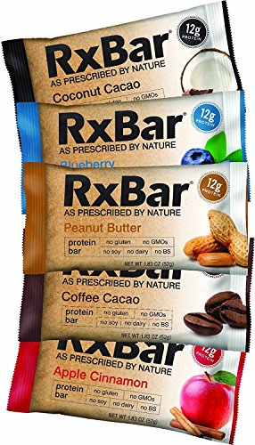 RxBar Protein Bar 12 Pack - Minimal Ingredients That Are All 100% Real Food w/ No Processed Fillers (Variety) by RxBar