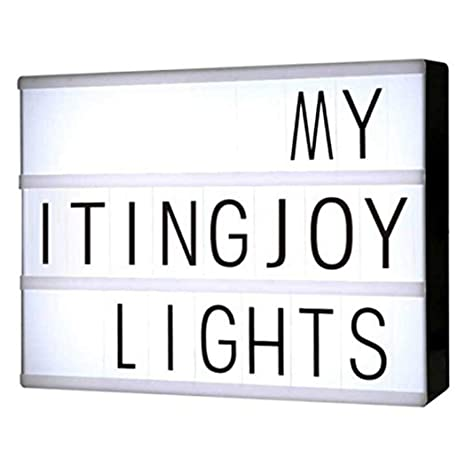 melysEU Cinema Light Box A4 DIY Letter Pattern Cinematic Caja de ...