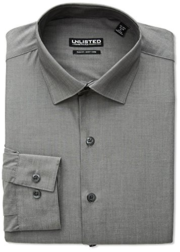 Kenneth Cole REACTION Unlisted Men's Slim Fit Solid Spread Collar Dress Shirt