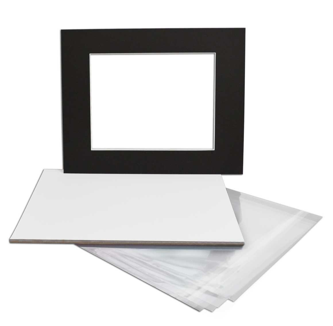 Golden State Art, Pack of 100, Acid-Free 16 3/8x 20 1/8 inches Crystal Clear Sleeves Storage Bags for 16x20 Photo Framing Mats Mattes 100CBags-1620