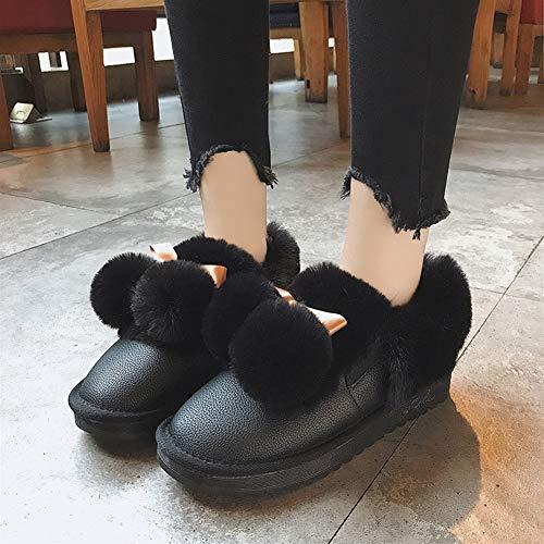 da da Scarpe 39 Stivaletti E Invernali Colore Inverno Beige Femminile Autunno Nero Boots Pizzo Snow ZHAOYONGLI Stivali Antiscivolo Donna Stivali PU Scarpe Stivali Caldo Neve Boots Dimensioni da 4qZH5