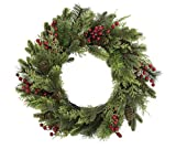 Tremont Floral 24' Berry Cedar Pinecone Mix Wreath - Perfect for Fall Winter Christmas Season