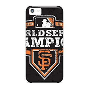 Shock Absorption Hard Phone Covers For Iphone 5c (YAx1511Skoz) Unique Design Fashion San Francisco Giants Pattern
