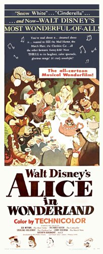 Alice in Wonderland Movie Poster (14 x 36 Inches - 36cm x 92cm) (1951) Insert -(Kathryn Beaumont)(Ed Wynn)(Richard Haydn)(Sterling Holloway)