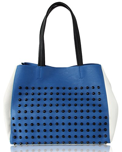Steve Madden Women's Cortage Tote Bag, Blue/White (Steve Madden Woman Bags)