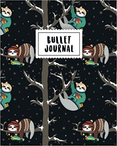 __INSTALL__ Bullet Journal: Sloth Journal | 150 Dot Grid Pages (size 8x10 Inches) | With Bullet Journal Sample Ideas. Steve safely Alaska minIn solar durante current Hockey