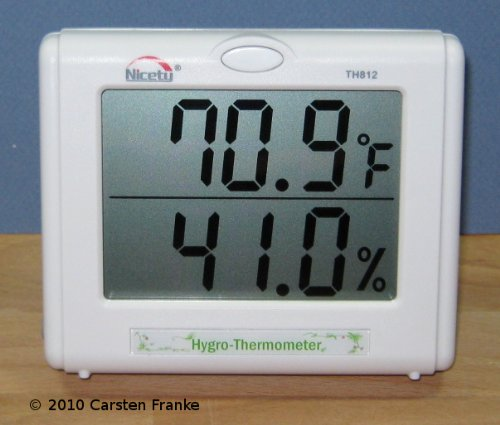 Temperature Humidity Meter - Hygrometer for Hydroponics, Greenhouse, Gardening by Nicety